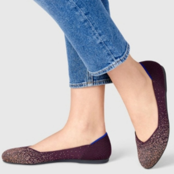 Rothys Eggplant Metallic The Flat Shoes
